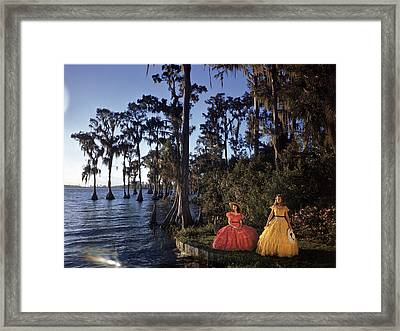 Southern Belles In Cypress Gardens Framed Print by Eliot Elisofon