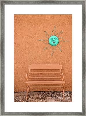 Southwestern Bench  Framed Print