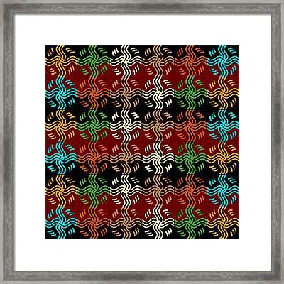 Southwestern Sun Tile Framed Print