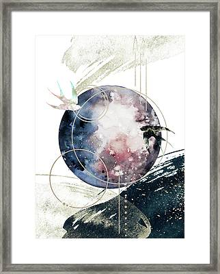 Framed Print featuring the digital art Space Operetta by Bee-Bee Deigner
