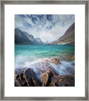 Splash / St. Mary Lake, Glacier National Park  Framed Print