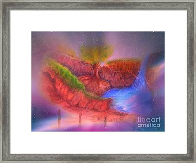 Framed Print featuring the mixed media Spec In The Galaxy by Sabine ShintaraRose