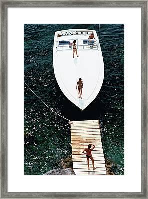 Speedboat Landing Framed Print