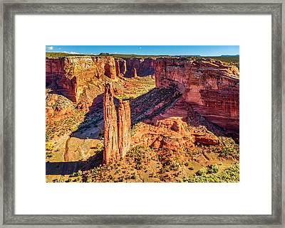 Framed Print featuring the photograph Spider Rock by Andy Crawford