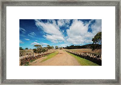 Framed Print featuring the photograph Spiky Bridge During The Day by Rob D