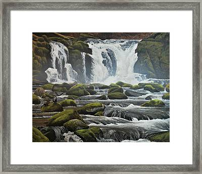 Framed Print featuring the painting Spring Harlequins by Peter Mathios