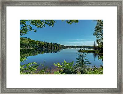 Spring Morning On Grand Sable Lake Framed Print