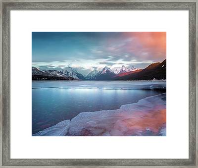 Framed Print featuring the photograph Spring Thaw / Lake Mcdonald, Glacier National Park  by Nicholas Parker