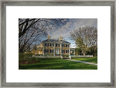 Springtime At Longfellow House Framed Print