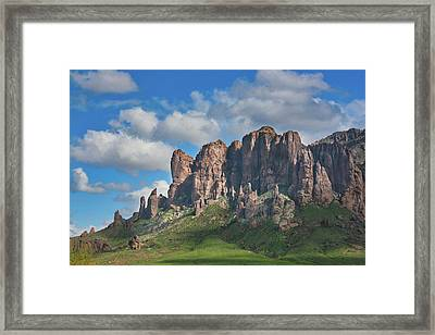 Springtime In The Superstition Mountains Framed Print