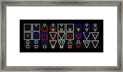 Squa-ngle Alphabet Colour Framed Print