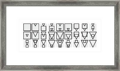 Squa-ngle Alphabet Mono Framed Print
