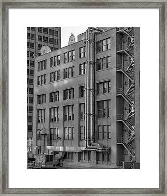 Squares And Lines Framed Print