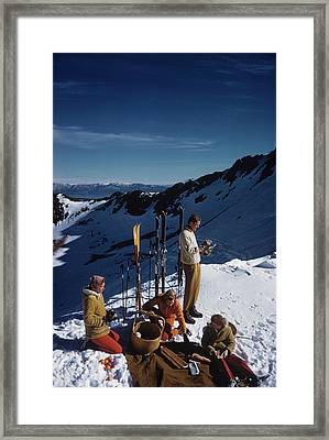 Squaw Valley Picnic Framed Print by Slim Aarons