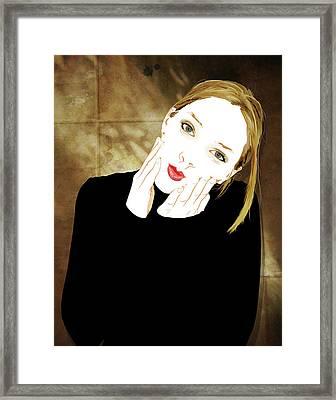 Squishyface Framed Print