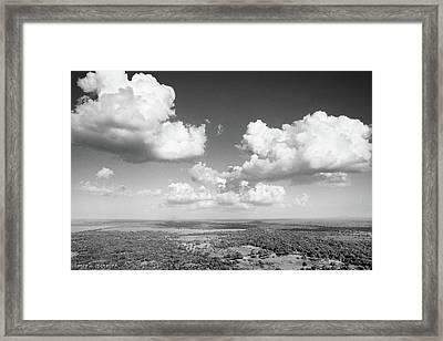 Sri Lankan Clouds In Black Framed Print