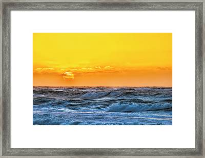 Sunset On A Windy Evening Framed Print by Fernando Margolles