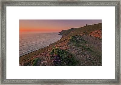 St Agnes Sunset Framed Print