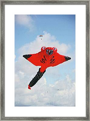 St. Annes. The Kite Festival Framed Print