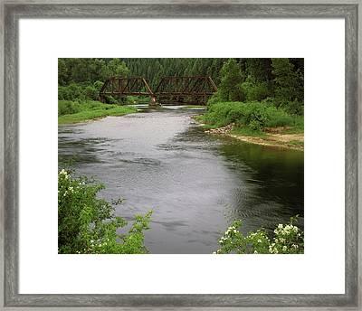 St Joe Bridge Framed Print by Leland D Howard