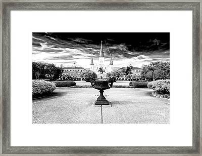 St. Louis Cathedral Dimensions New Orleans Framed Print