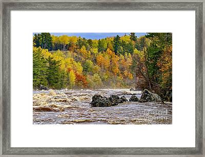 St. Louis River At Jay Cooke Framed Print