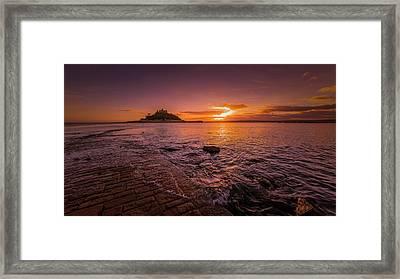 St Michael's Mount - January Sunset Framed Print