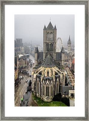 St. Nicholas Church, Ghent. Framed Print