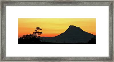 Framed Print featuring the photograph Stac Polly Mountain Sunset by Grant Glendinning