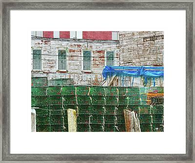 Stacked Lobster Traps Framed Print