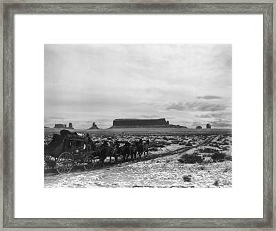 Stagecoach Framed Print by Hulton Archive
