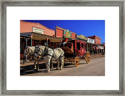 Stagecoach, Tombstone Framed Print