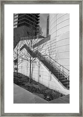 Stairs Up The Side Framed Print