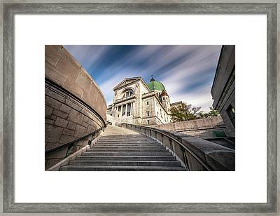 Framed Print featuring the photograph Stairway To St Joseph Oratory by Pierre Leclerc Photography