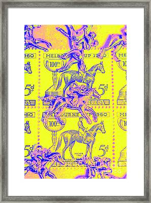 Stamps And Stallions Framed Print