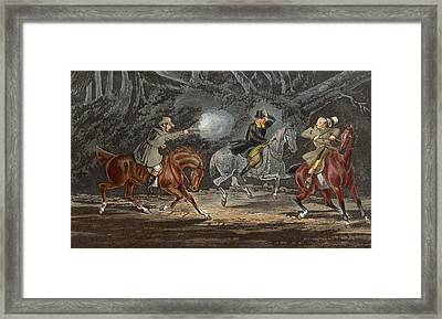 Stand And Deliver Framed Print by Hulton Archive