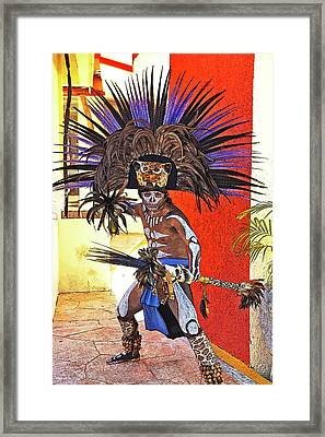 Standing His Ground Framed Print