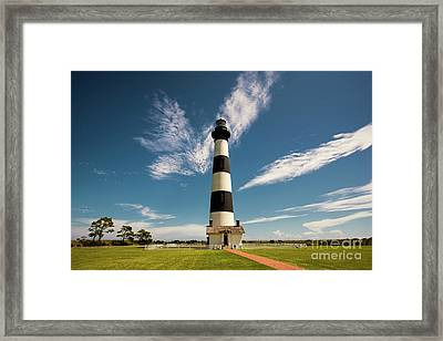 Framed Print featuring the photograph Standing Proud Bodie Island Lighthouse by Terry Rowe