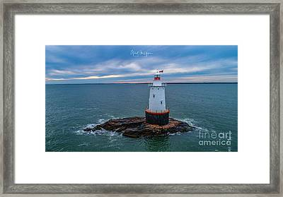 Framed Print featuring the photograph Standing Watch by Michael Hughes