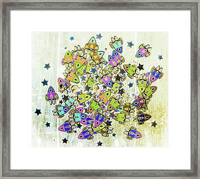 Star Fleet Framed Print