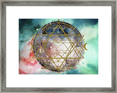 Framed Print featuring the digital art Starchild by Bee-Bee Deigner
