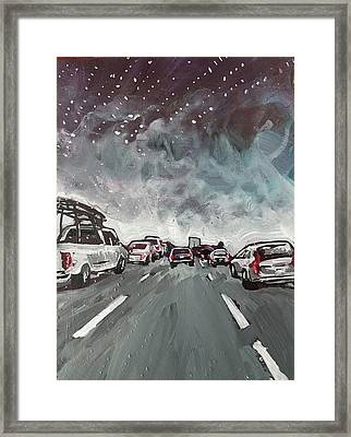 Starry Night Traffic Framed Print