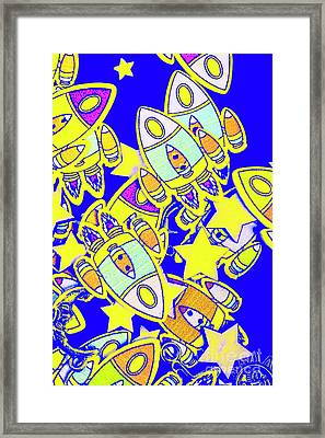 Stars And Spacecraft Framed Print