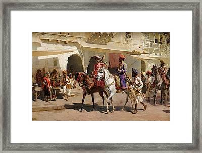 Start For The Hunt At Gwalior Framed Print