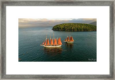 Framed Print featuring the photograph Stay The Course  by Michael Hughes