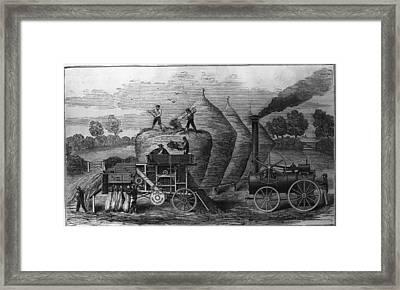 Steam Threshing Framed Print by Hulton Archive