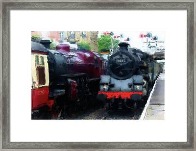 Steam Trains Framed Print