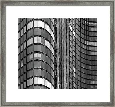 Steel And Glass Curtain Wall Framed Print by Photo By John Crouch
