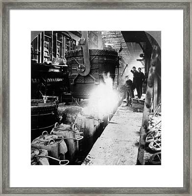 Steel Foundry Framed Print by Hulton Archive