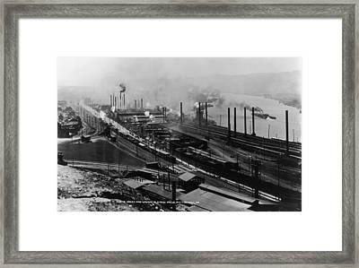 Steel Mills Framed Print by Fotosearch